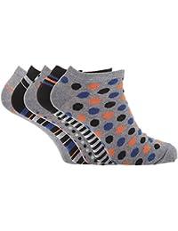 Soho Collection - Calcetines tobilleros con diseños variados para hombre ( paquete de 5 )