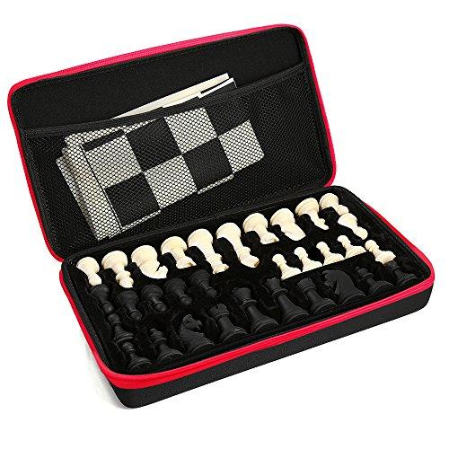 Schach Silikon Schachspiel Schachset mit Schachfiguren & Brettmatte Portable Outdoor-Paket Fall für Kinder Erwachsene