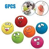 Decdeal 6 Stück Hunde Quietschball Quietschspielzeug Hundespielzeug mit Lustigem Aufdruck