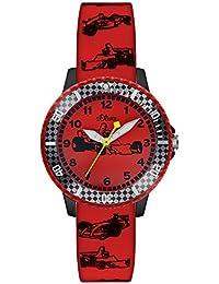 s.Oliver Jungen-Armbanduhr Analog Quarz Silikon SO-2981-PQ