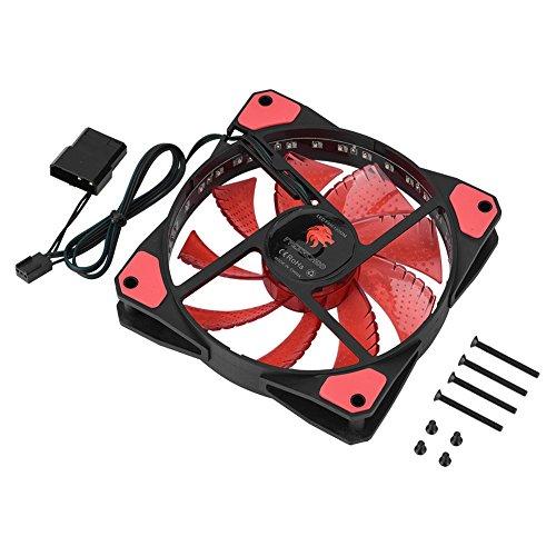 Semme Ventilateur d'ordinateur, Ventilateur de boîtier d'ordinateur 33LED Respirant Silencieux 50CFM de Dissipation Thermique Rapide de 3pin(Red)