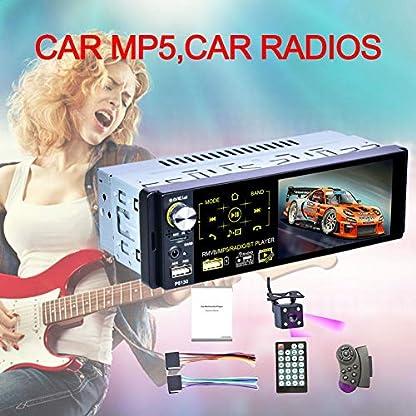 Autoradio-Mit-Bluetooth-Freisprecheinrichtung-Touchscreen-USB-1-DIN-Autoradio-41-Zoll-Audio-Spiegel-Link-Stereo-Bluetooth-IR-Rckfahrkamera-USB-Aux-Player-7-Farbe-Hintergrundbeleuchtung-AM-FM-RDS