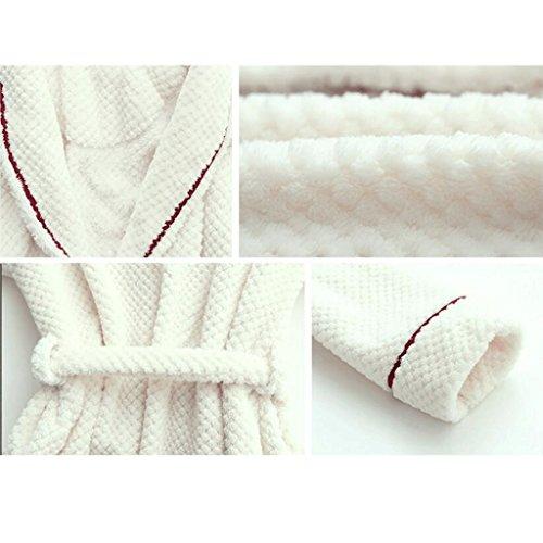 ZLR Autunno e Inverno Stagione Adulto a maniche lunghe Pigiama Abbigliamento da casa Coppia Ispessimento Accappatoio caldo ( Colore : A , dimensioni : L. ) C