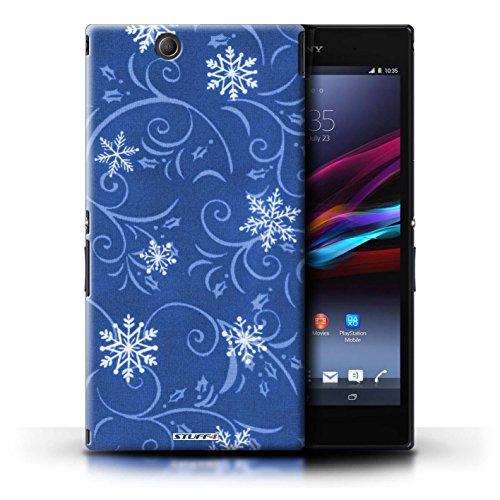 Kobalt® Imprimé Etui / Coque pour Sony Xperia Z Ultra / Rouge conception / Série Motif flocon de neige Bleu