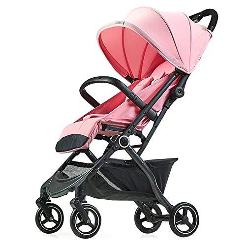 ALIFE Kinderwagen Leichtgewicht Von Geburt an Falten Kinderwagen Kinderreisebuggy Reha-Buggys,Pink