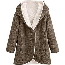 Mujer Abrigo de Felpa,BBestseller Cardigan Hoodies Jersey de de Piel sintética con Dobladillo Largo