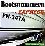 2 x Bootsnummern,UV & seewasserfest, 10 cm Höhe, Amtliche Bootskennzeichen, Aufkleber für Boote, GFK, Bootkennzeichen, Bootaufkleber Bootsaufkleber