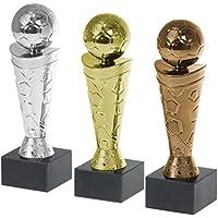 Pokal Fußball Nizza Gold Silber Bronze auch als Set PVC Trophäe Figur 18cm hoch