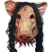 Trifycore Animal Unisex máscara de Cabeza de Cerdo con Pelo de Animal, máscara de máscara Animal, Fiesta de Halloween, Halloween, Navidad