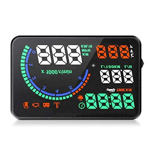 ZGYQGOO Auto Head-up-Display Neueste Universal Digital Tacho 5,5 '' Big Multi-Color-Projektor Fahrzeuggeschwindigkeit Mit GeschwindigkeiZeiHouml;he