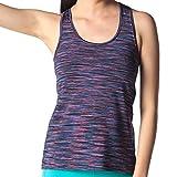 LAPASA Camiseta Deportiva sin Mangas, para Running, Yoga y Entrenamiento para Mujer. (M, Multicolor)