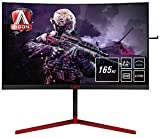 "AOC Monitores AG273QCG - Pantalla para PC Curvo de 27"" UHD 2K (resolución 2560 x 1440 Pixels, 165 Hz, 1ms, GSync, FlickerFree, LowBlue Mode, Altavoces, VESA, VGA, HDMI, Displayport, USB)"