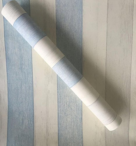 ZCHENG The Simple Self-Stick Wall Paper Glue Surface Wallpaper Pvc Wallpaper Wallpaper Waterproof Self-Adhesive 10 Meters One Roll Of Green On White, Gray 10 M Euro Blue Stripes, Extra-Large585248 -