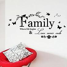 Vovotrade 2016 Fiore Famiglia Farfalla d'arte del vinile di citazione della parete Stickers Stickers murali
