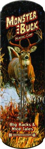 XL Nostalgie Thermometer aus Blech mit Werbe-Motiv