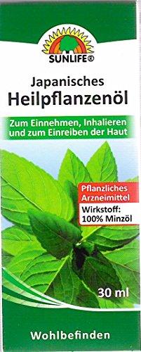 SUNLIFE Japanisches Heilpflanzenöl zum Einnehmen, Inhalieren und zum Einreiben der Haut 30 ml