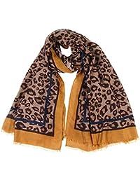 21a0657fc49f0 Frauen Leopard Drucken Schal Wrap Stirnband weichen Tücher YunYoud Qualität  Deckenschal Winterschal Schlauchschal…