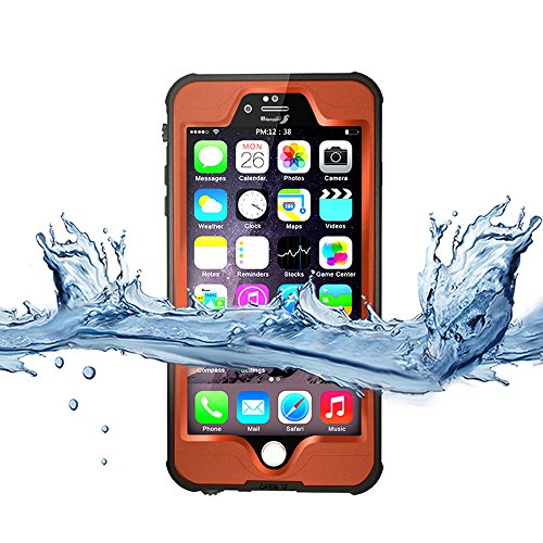 Yihya Nuova Versione Durevole Completa Sealed Impermeabile Protettiva Copertura Custodia per Apple iPhone 6 6S 4.7  Antiurto Snowproof Antis-porco Case Cover Submarine Housing Skin con Altri Accessor Arancione