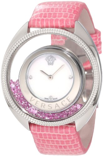 VERSACE donna 86Q951MD497 S111 Destiny Spirit Floating micro sfere rosa da donna in pelle