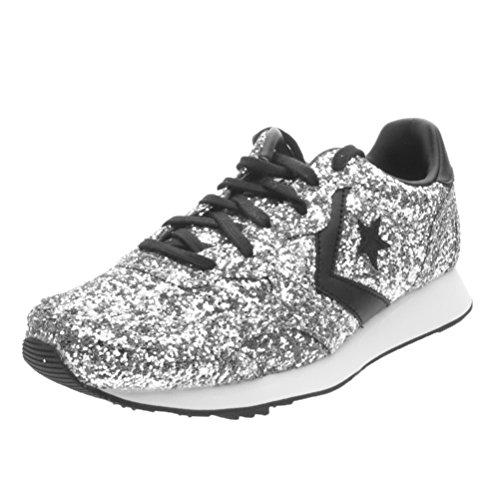 Converse Auckland Racer Ox Glitter - 555086c silver/black/snow white - (39, silver/black/snow white)