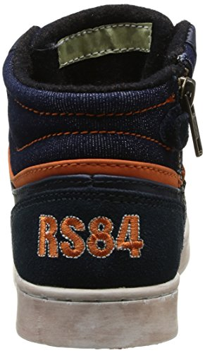 Redskins Zig, Jungen Hi-Top Sneakers Blau (Marineblau/Orange)
