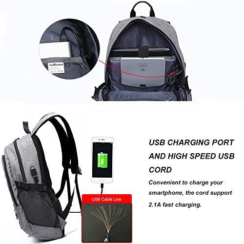 Imagen de  para portátil de negocios por dailystar, 15.6inch colegio  con usb puerto de carga, antirrobo bolsa de viaje ligero para hombres y mujeres gris gray02 alternativa