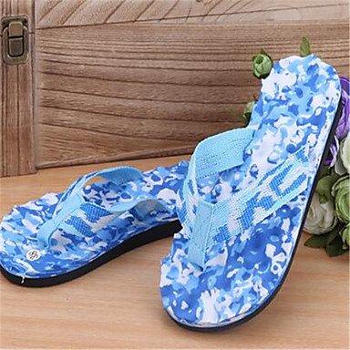 LQXZM Unisex pantofole & amp; flip-flops PVC caduta molla outdoor casual tacco piatto piatto blu Pool