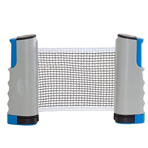 Plapu Tischtennisnetze ausziehbar Tischtennis Netze Schwarz - Einziehbares Netz - einstellbare Länge mobiles tischtennisnetz for jeden Tisch 200(max) x 14cm