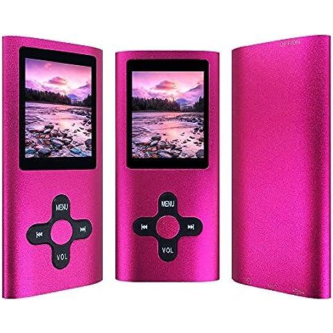 ProLighting Reproductor de 16 GB MP3 MP4 con Ranura Micro SD surtido Moda Duradera Reproductor de Música Portátil Energy Saving FM Radio Turner Reproductor de Vídeo Visor de Fotos Grabadora de voz Para Correr Hacer Deportes Viajar