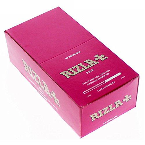 Rizla carta rotolamento regolare, Scatola completa, Rosa di 50Libretti, Ufficiale UK STOCK