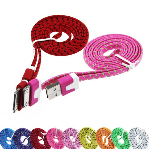 1-metre-strong-braided-usb-data-sync-charger-cable-for-iphone-4-4s-3g-3gs-ipad-23-in-hot-pink-by-cab