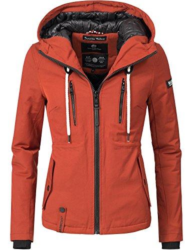 Marikoo Damen Jacke Winterjacke Liebe Mich (vegan hergestellt) Braun Gr. M (Frauen Jacke Regen)