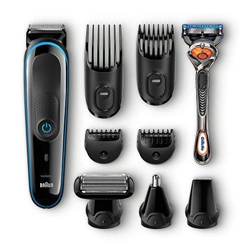Braun MGK 3080 - Set de afeitado multifunción corporal y facial con...