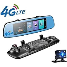 yuyitec 4 G COCHE DVR 7.84 pulgadas Adas mando a distancia táctil Monitor espejo retrovisor cámara