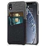 TENDLIN Coque iPhone XR Etui Portefeuille en Cuir avec 2 Fentes pour Cartes Titulaire...