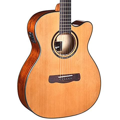 Merida Diana DG-15SPOMCES Electro-Acoustic Guitar, Orchestra Cutaway, Spalted Maple Back