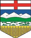 U24 Aufkleber Alberta Wappen Autoaufkleber Sticker Konturschnitt