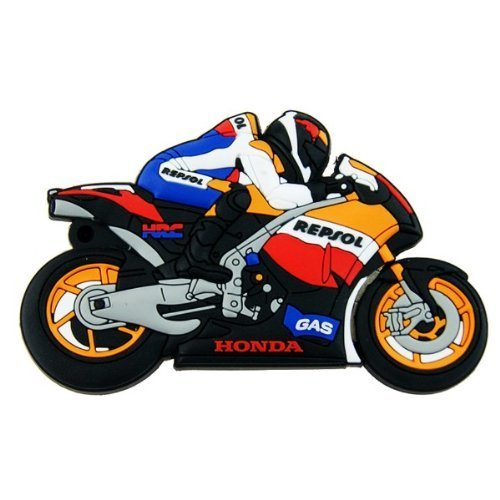 Motorrad Form Speicherstick USB 2.0 8GB USB-Stick Rennen Rennfahrer