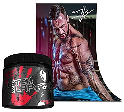 Fan Edition B.A.M. Biatch Slap Pre-Workout Most Hardcore Booster Trainingsbooster Bodybuilding 150g inkl. Jil Poster Mit Signatur (Fruit Punch -