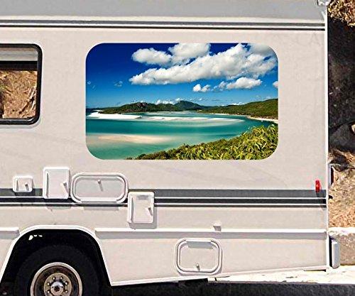 3D Autoaufkleber Landschaft Meer Ozean Australien Wohnmobil Auto KFZ Fenster Motorhaube Sticker Aufkleber 21A352, Größe 3D sticker:ca. 120cmx73cm