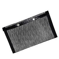 perfk Non-Stick Mesh Grilling Bag High Temperature Resistant BBQ Bake Bag Outdoor Picnic Tool - L