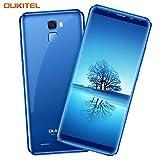 Oukitel K5000 4G Smartphone mit Dual SIM Ohne Vertrag 5.7 Zoll (18:9 Display) 5000 mA/h Akku 64 GB Interner Speicher 4 GB RAM 16 MP Hauptkamera 21 MP Frontkamera Android 7-Blau