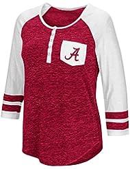 "Alabama Crimson Tide NCAA Women's ""Inconceivable"" 3/4 Sleeve Henley Shirt Chemise"