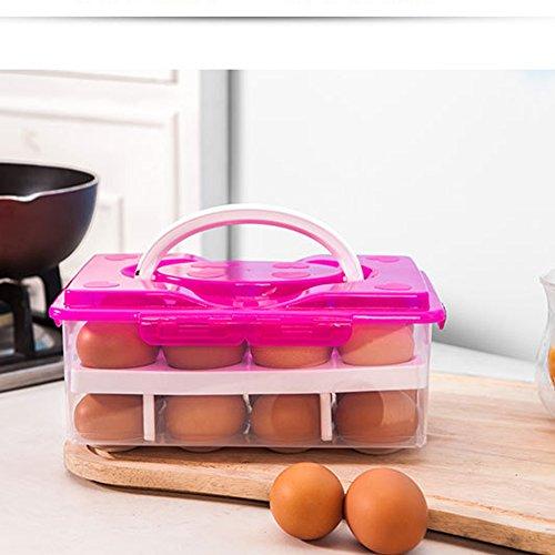 Huevera de plástico para 24 huevos