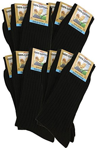 12-pairs-mens-100-pure-cotton-ribbed-socks-allow-your-feet-to-breathe-and-absorb-black