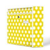 Burg-Wächter Motiv Briefkasten, Stahlblech weiß, MAIL 5877 W Postkasten 36x32x10cm mit Motiv Punkte Gelb