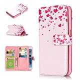 iPhone 6 Case , iPhone 6s Case , MS Jumpper Premium [Card Slot] Magnetic Hybrid Wallet Case Flip Cover For Appple iPhone 6 and iPhone 6s 4.7 inch (heart)