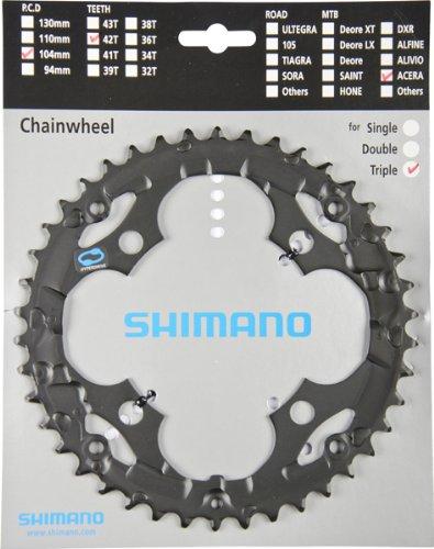 Shimano, Corona 42D Acera, FC-M341 Nero x CG
