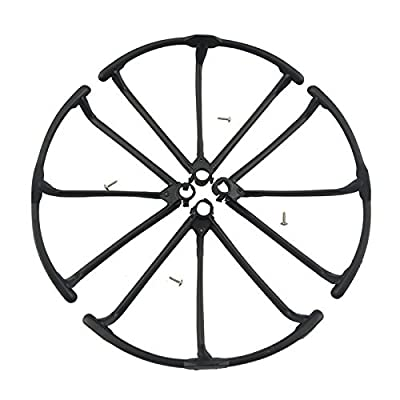 SODIAL(R) Upgrade Propeller Guards Protectors for Hubsan H502E H502S Drone RC Quadcopter Spare Parts Replacement (Black) from SODIAL(R)
