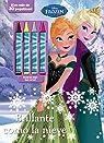Frozen. Brillante como la nieve: Libro de colorear con ceras